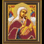 """Ткань с рисунком для вышивания бисером """"Богородица «Страстная»"""" """"Нова Слобода"""""""
