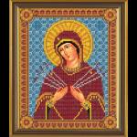 """Ткань с рисунком для вышивания бисером """"Богородица «Умягчение злых сердец»"""" """"Нова Слобода"""""""