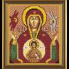 """Ткань с рисунком для вышивания бисером """"Богородица «Знамение»"""" """"Нова Слобода"""""""