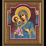 """Ткань с рисунком для вышивания бисером """"Богородица Иерусалимская"""" """"Нова Слобода"""""""