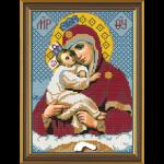 """Набор для вышивания бисером """"Богородица Почаевская"""" """"Нова Слобода"""""""
