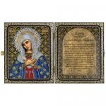 """Набор для вышивания бисером """"Складень с молитвой. Богородица Умиление"""" """"Нова Слобода"""""""