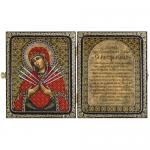 """Набор для вышивания бисером """"Складень с молитвой. Богородица Семистрельная"""" """"Нова Слобода"""""""