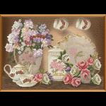 """Набор для вышивания """"Цветочный чай"""" """"Нова Слобода"""""""
