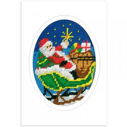 """Набор для вышивания OR1582 Открытка """"Санта в санях"""" """"Orchidea"""""""