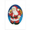 """Набор для вышивания OR1583 Открытка """"Санта в снегу"""" """"Orchidea"""""""