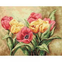 """Канва-страмин с рисунком OR2248 """"Тюльпаны"""" 40х50см """"Orchidea"""""""