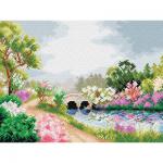 """Канва-страмин с рисунком OR2320 """"Пышное цветение"""" 30х40см """"Orchidea"""""""