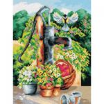 "Канва-страмин с рисунком OR2394 ""Водопой"" 30х40см ""Orchidea"""