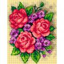 """Канва-страмин с рисунком OR2650 """"Красные розы"""" 18х24см """"Orchidea"""""""