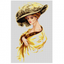 "Канва-страмин с рисунком OR2724 ""Леди в жёлтом"" 40х60см ""Orchidea"""