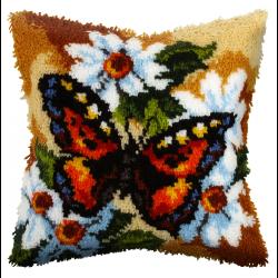 """Набор для вышивания Подушка ковровая OR4060 """"Бабочка на ромашках"""" 40х40см """"Orchidea"""""""