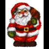 """Набор для вышивания Подушка фигурная ковровая OR4095 """"Санта"""" 40х47см """"Orchidea"""""""