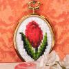 """Набор для вышивания с рамкой OR6073 """"Тюльпан"""" """"Orchidea"""""""