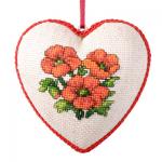 """Набор для вышивания с пластиковой формой OR7329 """"Красные цветы"""" """"Orchidea"""""""