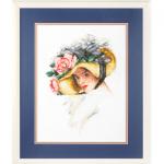 """Набор для вышивания OR7366 """"Девушка в цветочной шляпе"""" """"Orchidea"""""""