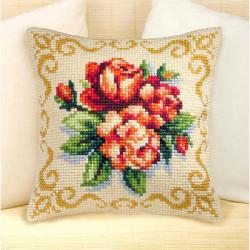 """Набор для вышивания Подушка OR9006 """"Красные розы"""" 40х40см """"Orchidea"""""""