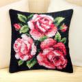 """Набор для вышивания Подушка OR9031 """"Розовые розы на чёрном"""" 40х40см """"Orchidea"""""""