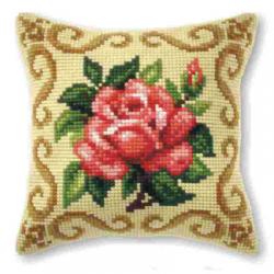 """Набор для вышивания Подушка OR9164 """"Роза в узоре"""" 40х40см """"Orchidea"""""""