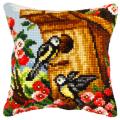 "Набор для вышивания Подушка OR9186 ""Домик для птиц"" 40х40см ""Orchidea"""