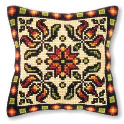 """Набор для вышивания Подушка OR9207 """"Цветочный орнамент"""" 40х40см """"Orchidea"""""""