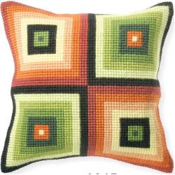 """Набор для вышивания Подушка OR9215 """"Цветные квадраты"""" 40х40см """"Orchidea"""""""