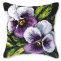 """Набор для вышивания Подушка OR9244 """"Фиолетовые виолы"""" 40х40см """"Orchidea"""""""
