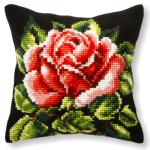"""Набор для вышивания Подушка OR9250 """"Красная роза на чёрном"""" 40х40см """"Orchidea"""""""