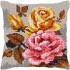 """Набор для вышивания Подушка OR9357 """"Розы на сером 2"""" 40х40см """"Orchidea"""""""