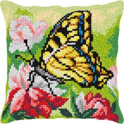"Набор для вышивания Подушка OR9367 ""Жёлтая бабочка"" 40х40см ""Orchidea"""