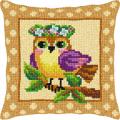 """Набор для вышивания Подушка OR9375 """"Птица с венком"""" 40х40см """"Orchidea"""""""