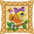"""Набор для вышивания Подушка OR9376 """"Птица с бантиком"""" 40х40см """"Orchidea"""""""