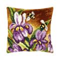 """Набор для вышивания Подушка OR9382 """"Пчёлы на ирисах"""" 40х40см """"Orchidea"""""""