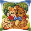 """Набор для вышивания Подушка 40х40см OR9388 """"Парочка медведей"""" """"Orchidea"""""""