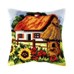 """Набор для вышивания Подушка OR9389 """"Домик в деревне"""" 40х40см """"Orchidea"""""""