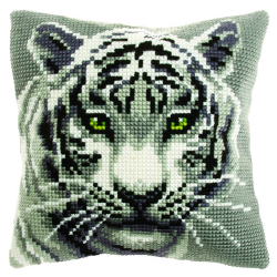 """Набор для вышивания Подушка OR9531 """"Белый тигр"""" 40х40см """"Orchidea"""""""