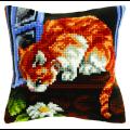 """Набор для вышивания Подушка OR9533 """"Кошка в окошке"""" 40х40см """"Orchidea"""""""