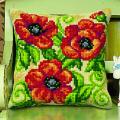 """Набор для вышивания Подушка OR9535 """"Красные цветы"""" 40х40см """"Orchidea"""""""