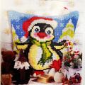 """Набор для вышивания Подушка OR9562 """"Новогодний пингвин"""" 40х40см """"Orchidea"""""""