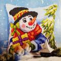 """Набор для вышивания Подушка OR9563 """"Снеговик с подарками"""" 40х40см """"Orchidea"""""""