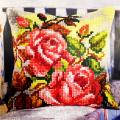 """Набор для вышивания Подушка OR9569 """"Осенний розовый куст"""" 40х40см """"Orchidea"""""""