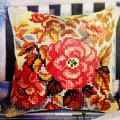 """Набор для вышивания Подушка OR9570 """"Осенний розовый куст 2"""" 40х40см """"Orchidea"""""""