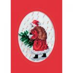 """Набор для вышивания OR6041 Открытка """"Санта с ёлкой"""" """"Orchidea"""""""