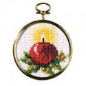 """Набор для вышивания с рамкой OR6084 """"Рождественская свеча"""" """"Orchidea"""""""