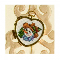 """Набор для вышивания с рамкой OR6198 """"Снеговик с ёлкой"""" """"Orchidea"""""""