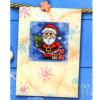 """Набор для вышивания OR6215 Открытка """"Санта с ёлкой и подарками"""" """"Orchidea"""""""