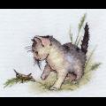 """Набор для вышивания """"Котенок с кузнечиком"""" """"Panna"""""""