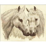 """Набор для вышивания """"Пара белых лошадей"""" """"Panna"""""""