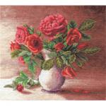 """Набор для вышивания """"Красные розы в белом кувшине"""" """"Panna"""""""