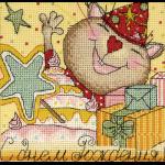 """Набор для вышивания Открытка """"Праздничные миниатюры. С днем рождения"""" """"Panna"""""""